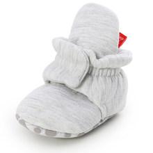 יילוד תינוק גרבי נעלי ילד ילדה כוכב לפעוטות ראשון הליכונים נעלי כותנה נוחות רך אנטי להחליק חם תינוק עריסה נעליים(China)
