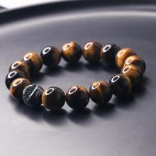 Di lusso del braccialetto Occhi di Tigre Pietra Naturale Borda il Braccialetto Buddha Braccialetti con ciondoli & accessori Dei Braccialetti degli uomini Dei braccialetti di perline di jewelrymen(China)