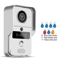 كامل دوبلكس الصوت فيديو إنترفون للرؤية الليلية HD الذكية اللاسلكية الجرس كاميرا دعم Onvif PIR إنذار واحد مفتاح واي فاي اتصال(China)