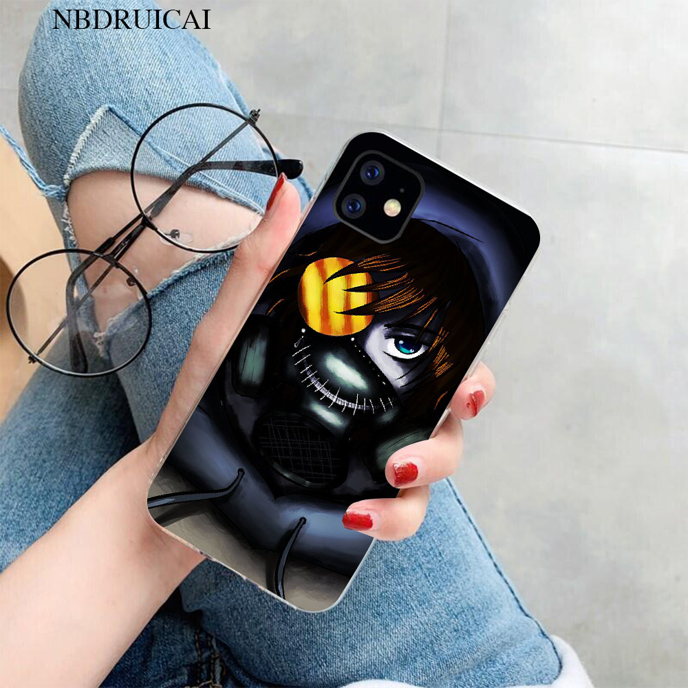 NBDRUICAI Creepypasta Ticci Toby x reader TPU black Phone Case Cover for iPhone 11 pro XS MAX 8 7 6 6S Plus X 5S SE XR cover