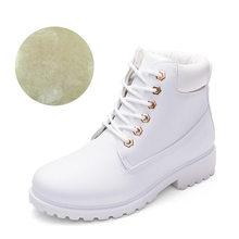 Mùa Đông Giày Nữ Giày Nữ 2020 Lông Ấm Áp Sang Trọng Sneakers Nữ Ủng Nữ Buộc Dây Cổ Chân Giày Mùa Đông Giày người Phụ Nữ Botas Mujer(China)