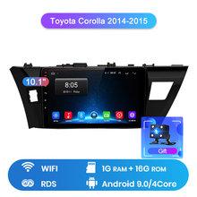 Junsun V1 2G + 32G Android 9.0 Dành Cho Xe Toyota Corolla 2014-2016 Phát Thanh Xe Hơi Đa Phương Tiện Video định vị GPS 2 DIN DVD(China)