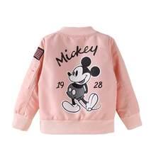 2019 куртка Микки для маленьких мальчиков, одежда пальто для мальчиков и девочек ветровка с рисунком, детская куртка Весенняя детская верхняя...(China)