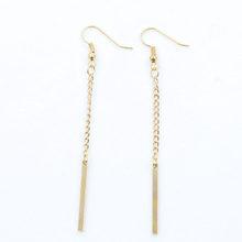 Simple Pendant Drop Earrings Tassel 2019 Fashion Oorbellen Pendientes Mujer Chain Long Earring For Women Statement Jewelry WD377(China)