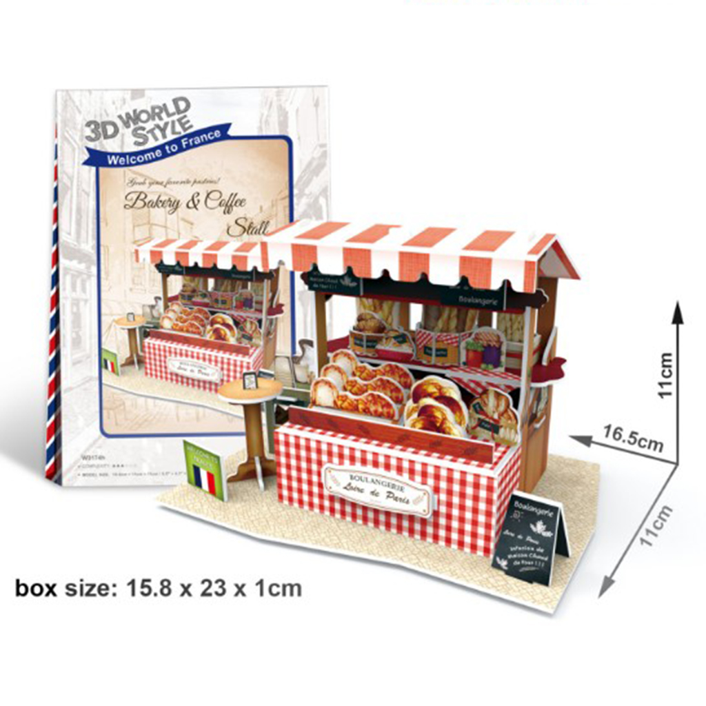 Wooden Dollhouse Miniature DIY Small House Kit Shop Booth Model Play Toy House Artwork Decoration Kids Birthday Christmas Gift