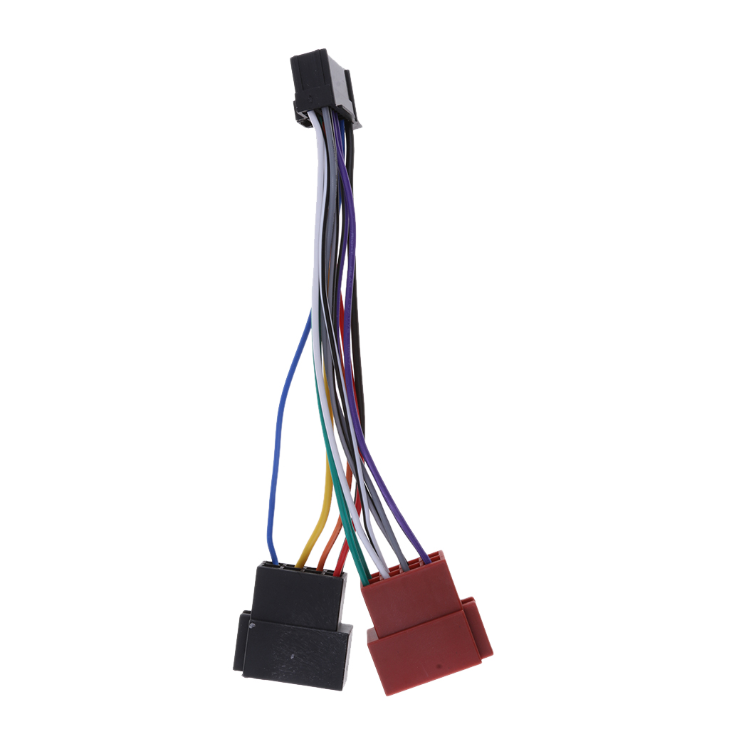 1 Pcs  ISO Connector For Pioneer Car Audio 16-Pin ISO Lead Wiring Loom Adaptor Plug Wire Radio Connector 180x30x30mm