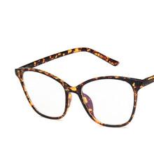 Одноцветная прозрачная большая оправа для очков для женщин и мужчин, простая оправа кошачий глаз, Модные Винтажные брендовые дизайнерские ...(Китай)