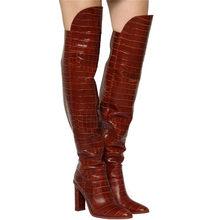 ASUMER 2020 big size 34-44 dij hoge laarzen vrouwen Europese Stijl herfst winter slanke lange laarzen Merk hoge hak schoenen dames(China)