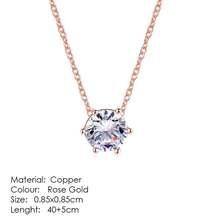 Clássico simplicidade zircão rosa ouro cor moda pingente jóias de casamento feito com áustria cristal n426 n427(China)