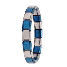 Hapiship 2018 женские ювелирные изделия 9 мм ширина Itanlian эластичный браслет с шармом модный серебряный браслет из нержавеющей стали ST-Silver(China)