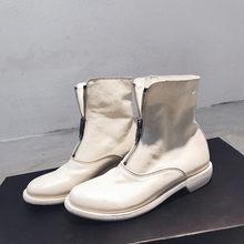 FEDONAS Kwaliteit Paard Huid Vrouwen Rits Enkellaars Hoge Hakken Nachtclub Schoenen Vrouw Herfst Winter Fashion Chelsea Korte Laarzen(China)