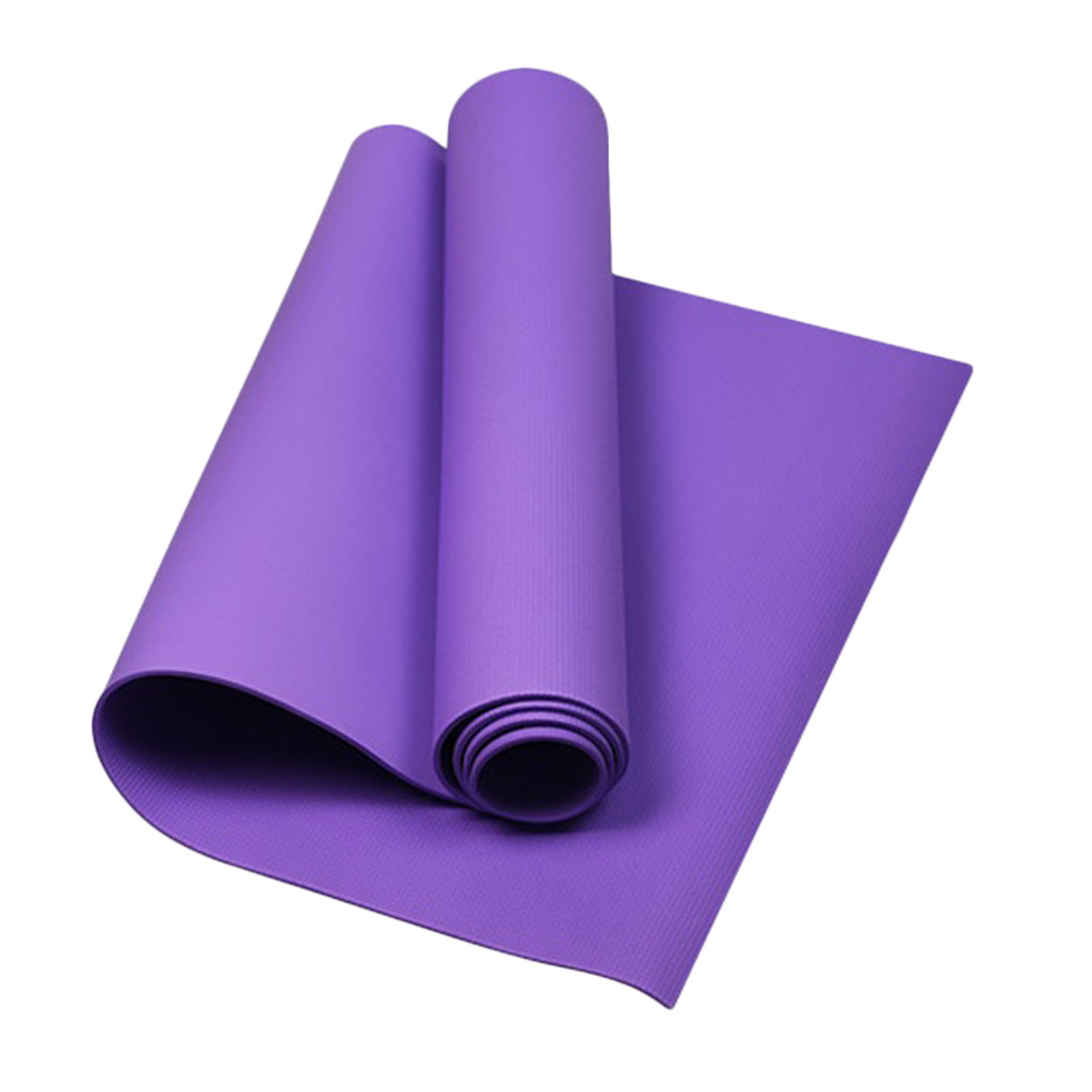 Yoga Pilates Mat Fitness Gym Cushion Pad 4mm Thick Non-slip for Indoor Outdoor Exercise Body Building Health Lose Weight Sports
