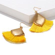 Women's tassel earrings drop earrings fashion jewelry earrings long wedding party earrings Boucle D'oreille Femme 2019(China)