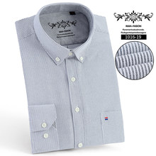 Hommes chemise à manches longues coupe régulière hommes chemise à carreaux chemises rayées hommes robe Oxford Camisa Social 5XL 6XL grandes tailles Streetwear(China)