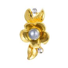 2017 Baru Plum Bunga Bros untuk Wanita Alami Perhiasan Mutiara Imitasi Pin Bros untuk Gaun(China)