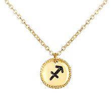 17KM 12 Constellation étoile zodiaque collier pour femmes élégant pièce pendentifs colliers or métal tour de cou bijoux de mode cadeaux(China)