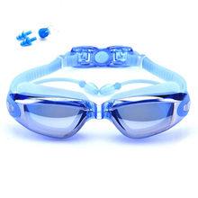 Waterdichte Siliconen Anti-Fog Zwembril Volwassen Zwemmen Bril Met Oordopje Mannen Arena Water Swim Eyewear Zwemmen Goggle Pak(China)