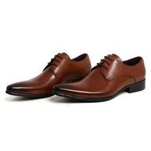 Формальные итальянские мужские модные модельные коричневые свадебные мужские туфли из натуральной кожи 2020 деловая обувь Zapatos Hombre размера п...(China)