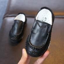 2019 voorjaar nieuwe kinderen baby schoenen jongens handgemaakte stiksels peas schoenen meisjes rubber bottom kids schoenen(China)