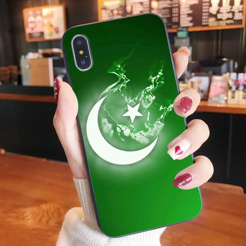 Pakistan Flag Banner Moon Star For