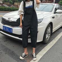 Новые модные милые корейские стильные комбинезоны повседневные джинсовые комбинезоны для женщин s сладкий школьный студенческий женский к...(China)