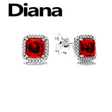 Diana fit original 925 sterling silver Pandora earrings charm personality high quality fashion luxury jewelry lady party gift(China)