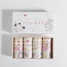20 Buah/Bungkus Retro Emas Washi Masking Tape Set DIY Dekorasi Scrapbooking Stiker Masking Kertas Dekorasi Pita Perekat(China)