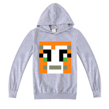 2020 Autumn Long Sleeve girls Top toddler Boys t shirt hooded minecrafted DanTDM Sweatshirt Children Shirts Kid Clothing Clothes(China)