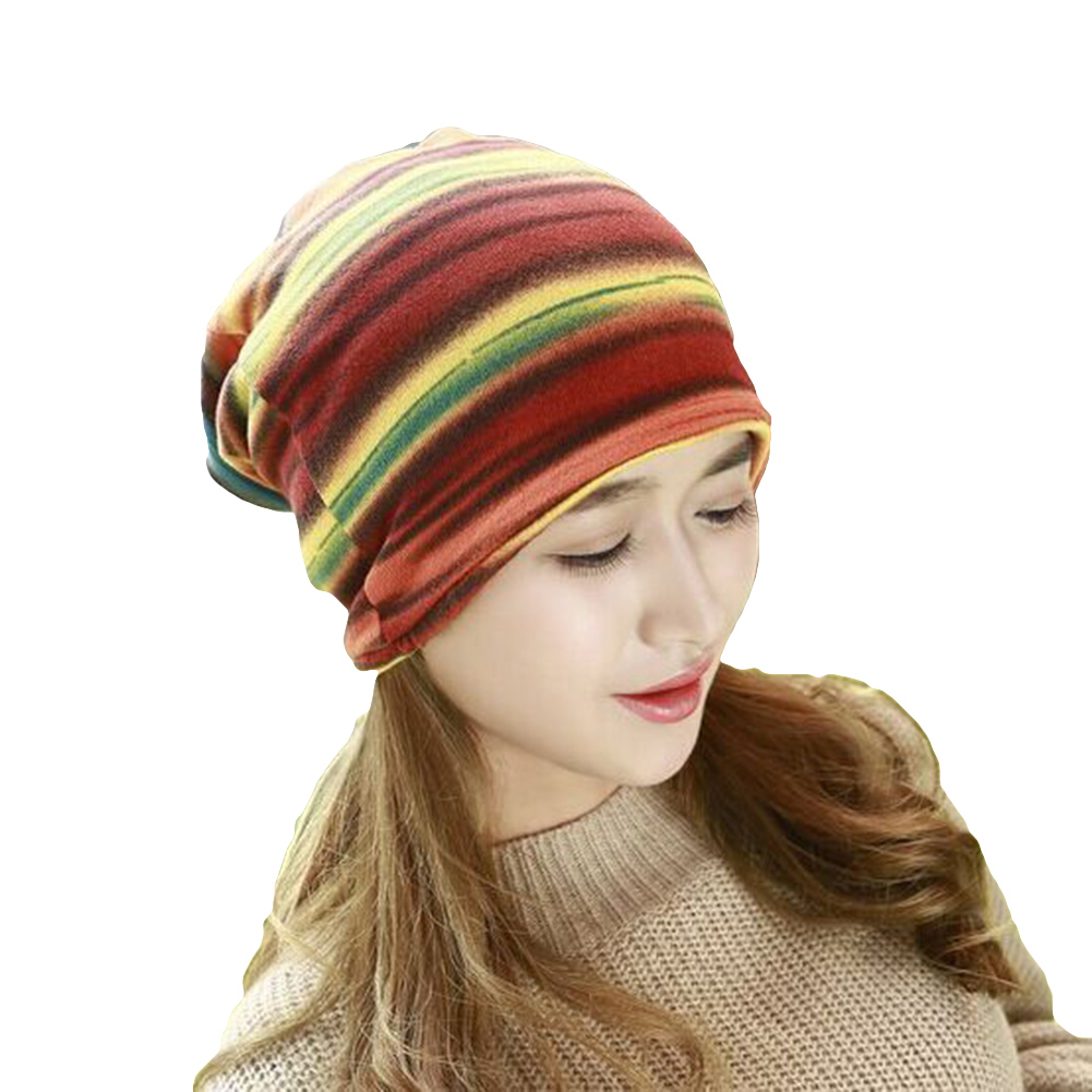 Colorful Hot Air Balloons Flying Over Water Unisex Fashion Knitted Hat Luxury Hip-Hop Cap