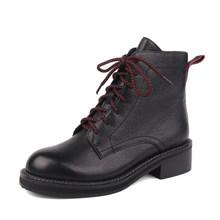 SOPHITINA yeni Martin çizmeler kış katı yüksek kalite hakiki deri sıcak rahat kare topuk ayakkabı kadın botları SC474(China)