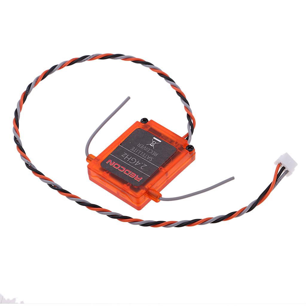 2pcs Orange REDCON DSMX Satellite Receiver 2.4Ghz DSMX//DSM2 20 CH Satellite
