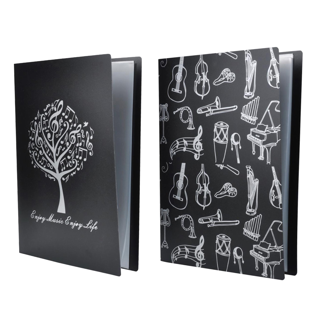 2pcs Storage Musical Document for Arts Department Students Teachers Black