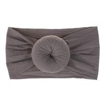 Новая нейлоновая повязка на голову с бантом для маленьких девочек, эластичная повязка на голову с бантом, тюрбан, повязка на голову, Эластич...(China)