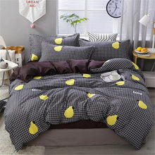 New Leaves Printing High Quality 3/4pcs Bedding Set Bed Linings Duvet Cover Bed Sheet Pillowcases Cover Set Dropshipping(China)