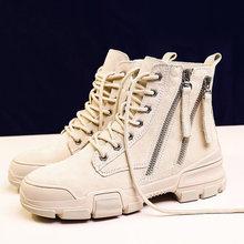 GRITION Kadın Martin Çizmeler Kamp Kış Açık Tırmanma Orta Ayakkabı kaymaz Dağ Yürüyüş Sneakers Turizm moda ayakkabılar(China)