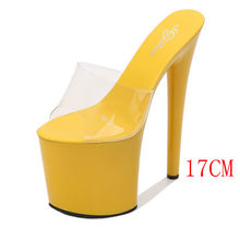 Model slippers 17cm-20cm special high heels with stiletto heels and sexy platform high slippers(China)