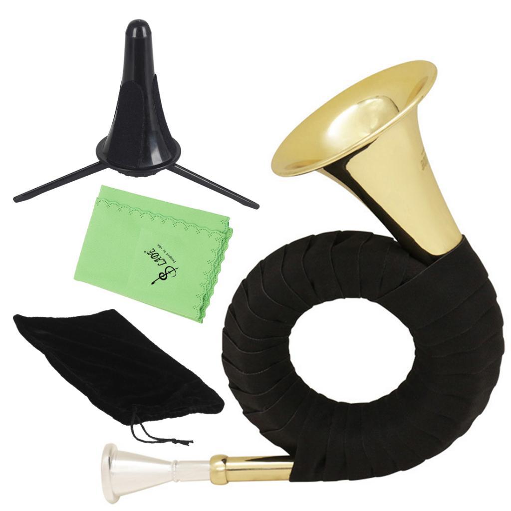 1 Set Golden Mini Brass Bb Hunting Horn Gift For Kids Beginners Students