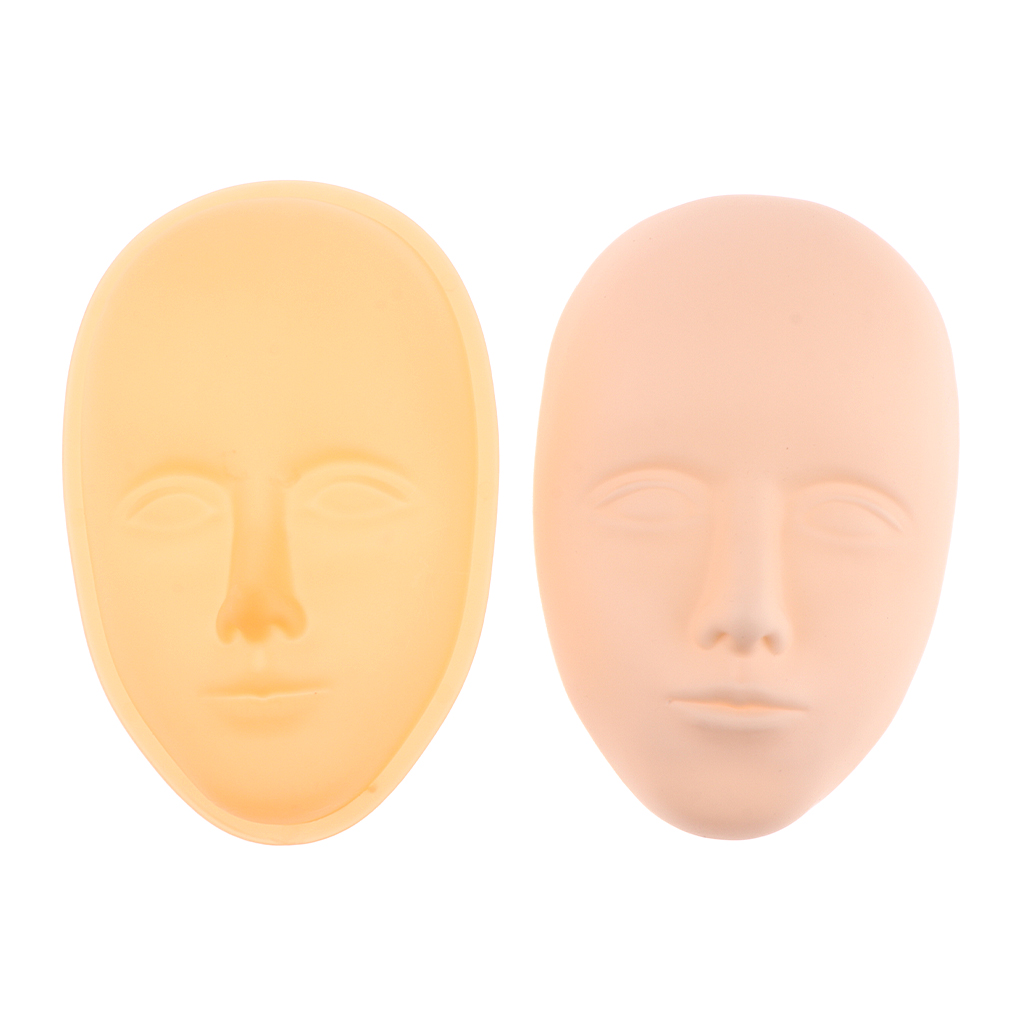 Pro Training Manikin Head Cosmetology Mannequin Flat Doll Head Practice Make Up Eyelash Extensions Eyebrow Lips Tattoo