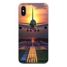 Capa do telefone celular saco para sony xperia z z1 z2 z3 z5 compacto m2 m4 m5 e3 t3 xa huawei companheiro 7 8 y3ii avião de viagem aeroporto pista(China)