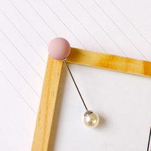 Donna Fashion Set Spilla Spilla di Perle Spilli Distintivo Cappotto Del Maglione Dei Monili Decorativi Spille Spille per Le Donne(China)