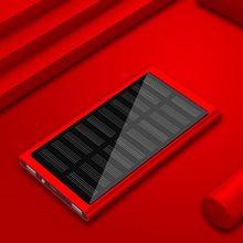 الساخنة بالطاقة الشمسية الهاتف شاحن بطارية 30000mah رقيقة جدا المحمولة شاحن الطاقة البنك ل xiaomi huawei samsung فون 7(China)