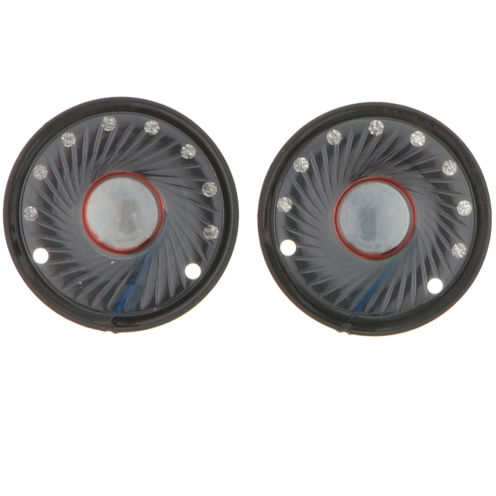 2 Pcs Replacement Speaker Parts 40mm Headphone Speakers Driver-32 Ohm