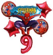 Superhero avenger z spider-man folha balão balão de festa de aniversário das crianças oferece uma 32-polegada balão digitais superman boneca de brinquedo(China)