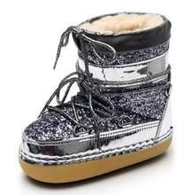 Kadın çocuk Kar Botları Kadın Kış Sıcak Platformu Kürk Pullu Ayakkabı Kadın Botları Bota yarım çizmeler ebeveyn-çocuk Kadın Ayakkabı c915(China)