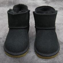 Kış Avustralya Bebek Kız Kar Botları Çocuklar Sıcak Koyun Derisi Deri Kürk Botas Su Geçirmez Bebek Önyükleme Erkek Bootie Ayakkabı Olmayan kaymaz(China)