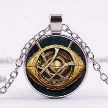 SONGDA offre spéciale docteur étrange collier Avengers Marvel oeil d'agamotto verre dôme pendentif Avengers: Infinity guerre hommes collier(China)