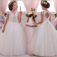 2020 платье с цветочным узором для девочек Открытое платье с цветочным рисунком на спине для девочек высококачественное свадебное платье с ц...(China)