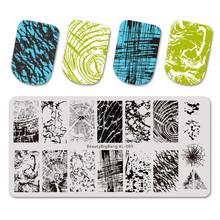 Beauty Bigbang Rechthoek Nail Stempelen Platen 6*12 Cm Bloem Wijnstok Patroon Nail Art Image Kant Stempel Template Voor nail Tips XL-101(China)
