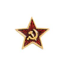 Uni Soviet Simbol Enamel Pin Perang Dingin Soviet Pro Kitty Red Star Sabit Hammer Bros Hadiah Ikon Lencana Tombol Kerah Pin untuk mantel Hadiah Bro(China)