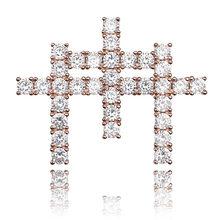 TOPGRILLZ AAA Cubic cyrkon Shining jednolity z powrotem Gunna krzyż wisiorek naszyjnik z tenis łańcuch Hip Hop biżuteria dla mężczyzna prezent(China)
